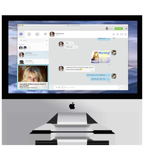 Desktop reklame Viber