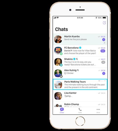 Viber chat lista reklame